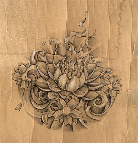burning lotus tattoo collection of 25 burning lotus flower poster