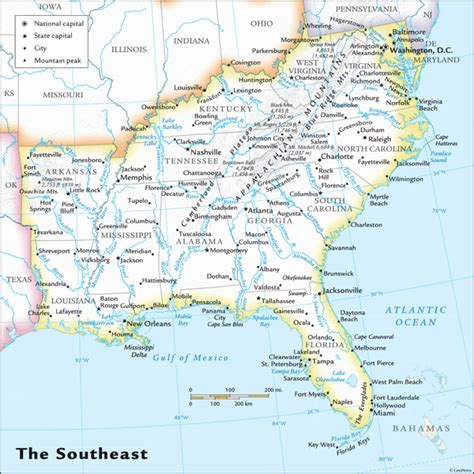 map of southeast usa us southeast sept07 gif 600 215 600 someday room