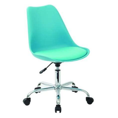 Teal Sitting Chair Ave Six Emerson Poly Student Office Chair In Teal Ems26 7
