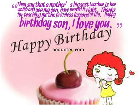 Happy Birthday Quotes For Sons by Quotes For Your On His Birthday Quotesgram