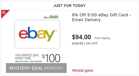 Ebay Gift Cards At Walmart - ebay deals 6 off ebay gift code ways to save money when shopping