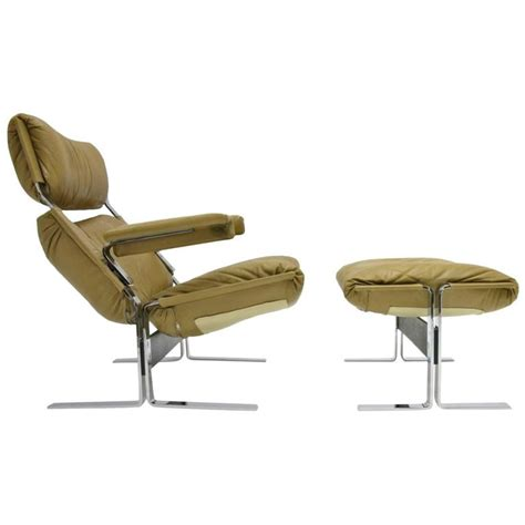 comfortable lounge chair comfortable steel and leather lounge chair and ottoman by
