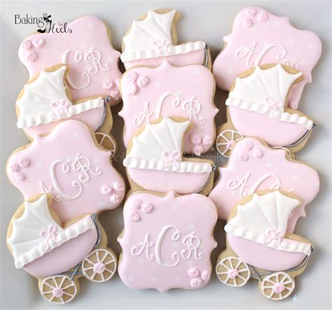 Baby Shower Cookie by Baby Carriage Baby Shower Cookies Monogram Cookies It S