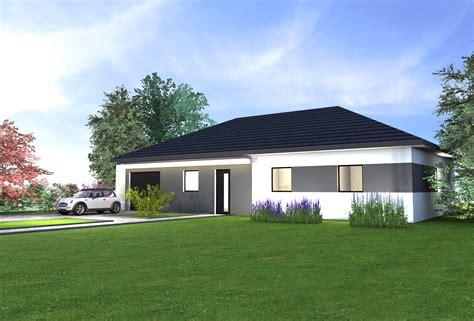 Maison Plain Pied Design by Maison Moderne Plain Pied 4 Chambres Estein Design