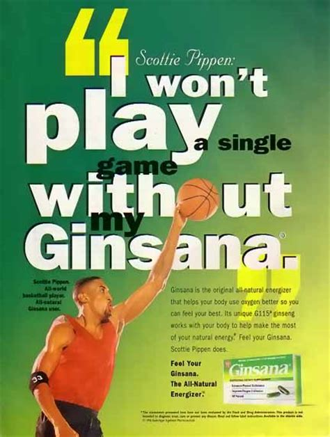 supplement ads bamboo trading scottie pippin 1996 ginsana ad