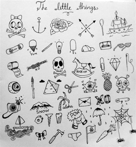 small tattoo flash art tiny tattoos skull boat bones needles
