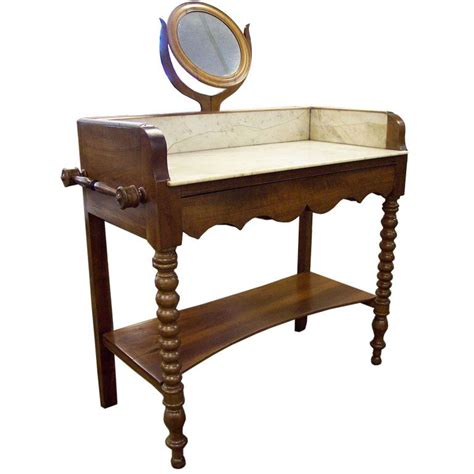 vintage marble topped washstand antique washstand with marble top and mirror at 1stdibs