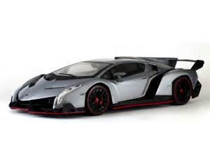 Lamborghini Diecast Models The Lamborghini Veneno Diecast Model Car In Grey 1 18