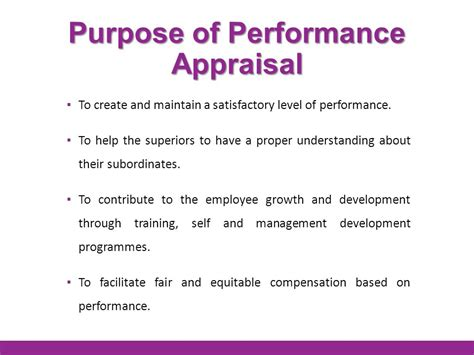 purpose employee evaluation performance evaluation and process ppt