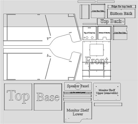 Pacman Cabinet Plans by Robotron Build Plans Classic Arcade Cabinets