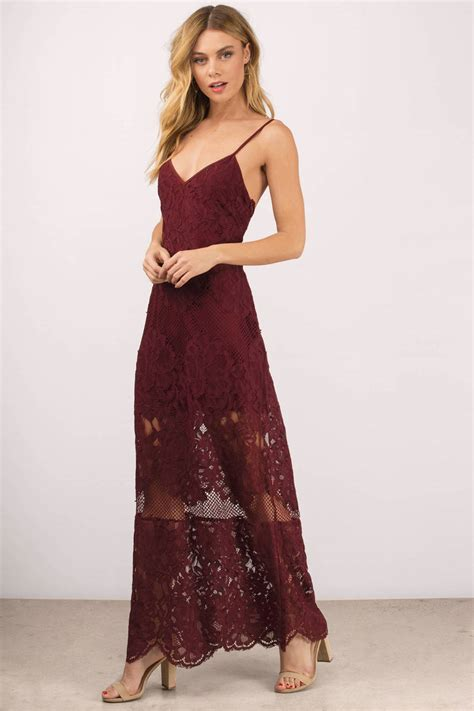 Wine Maxy maxi dress scalloped dress pink dress