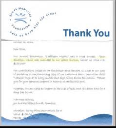 Charity Letter Thanks thank you letter charity solicitation letter sample thank you letters
