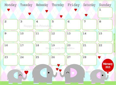 printable calendar 2015 etsy happywithprintables february 2015 calendar printable