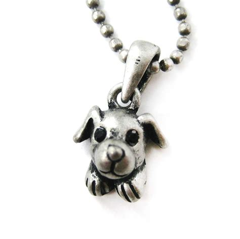 puppy necklace adorable puppy animal charm pendant necklace in silver 183 dotoly animal jewelry
