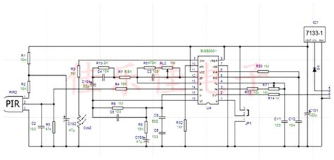 circuit diagram of pir motion sensor 28 images