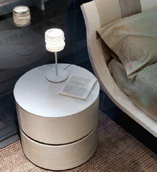 Mazzali Zefiro round bedside cabinet   Italian designer