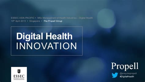 Mba Ms Digital Innovation by The Propell Essec Business School Digital Health