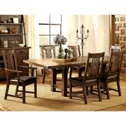 rustic dining set rimon solid wood mission style rustic dining set ebay