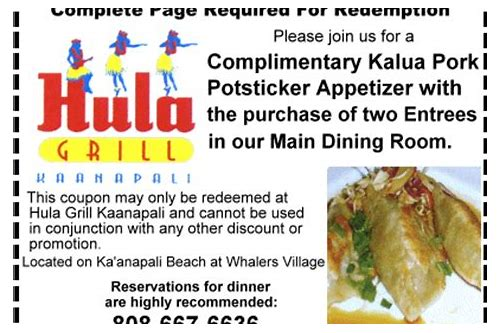 hula grill maui coupon