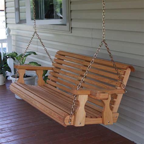 my wife swings centerville amish heavy duty 700 lb roll back wooden swing