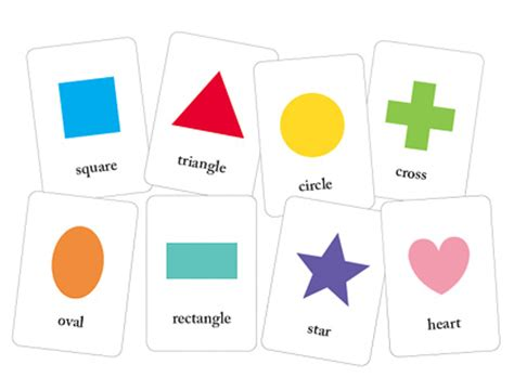 printable flash cards shapes file folder games for teaching shapes