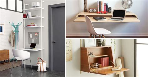 wall desk ideas   great  small spaces