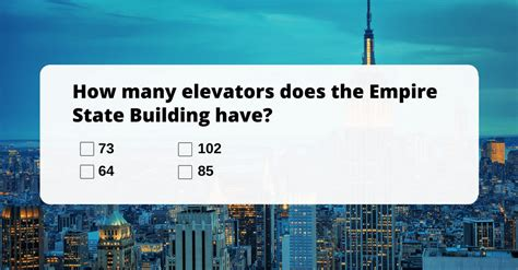 how many elevators does the empire state building