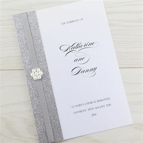 Order Wedding Invitations by Oscar Order Of Service Invitation Wedding Invites
