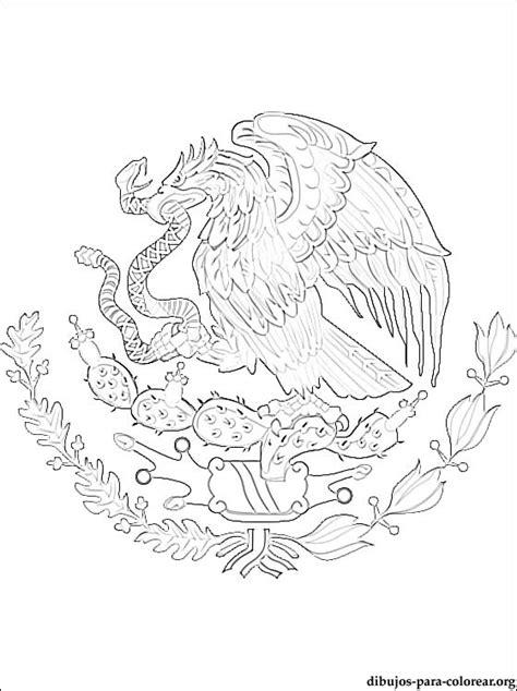 escudo bandera de mexico para colorear nocturnar escudo nacional para colorear mexico imagui