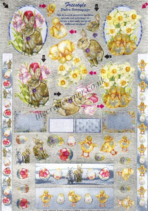 Die Cut Decoupage Sheets - easter freestyle die cut 3d decoupage sheet from dufex