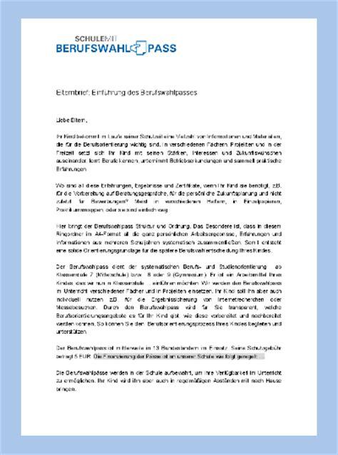 Mängelrüge Brief Schreiben Vorschlag Elternbrief Zur Bwp Info Servicestelle Bwp