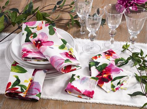 fiore collection fiore collection napkins and coaster in multi set your