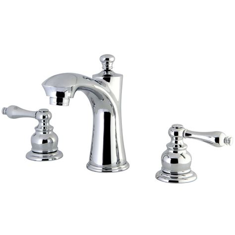 chrome and brass bathroom faucets kingston brass kb7961al victorian widespread lavatory