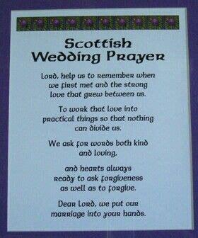 wedding prayer scottish weddings  prayer  pinterest