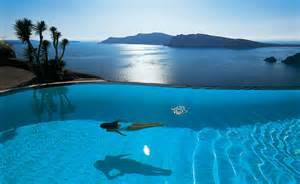 Infinity Pool Images For Luxury Top 10 Santorini Hotels With Infinity