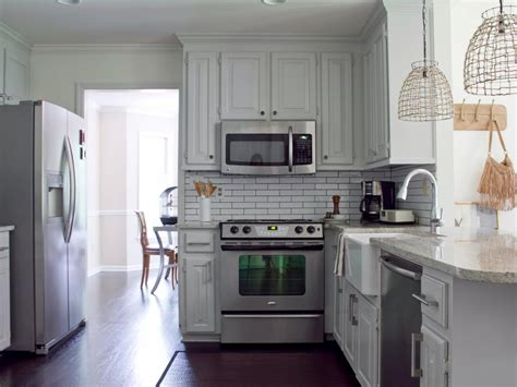 kitchen cabinets painted gray cottage kitchen photo page hgtv