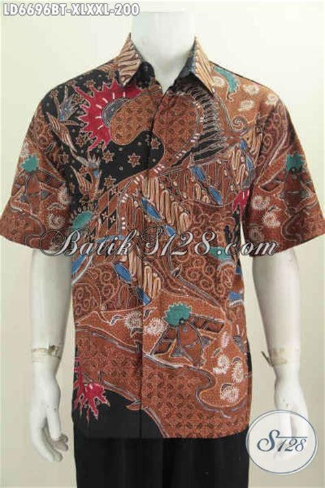 Baju Imlek Pria Dewasa baju batik pria dewasa hem batik lengan pendek halus motif mewah proses kombinasi tulis yang