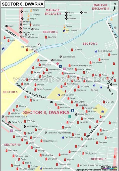 Sector 6 Dwarka Map