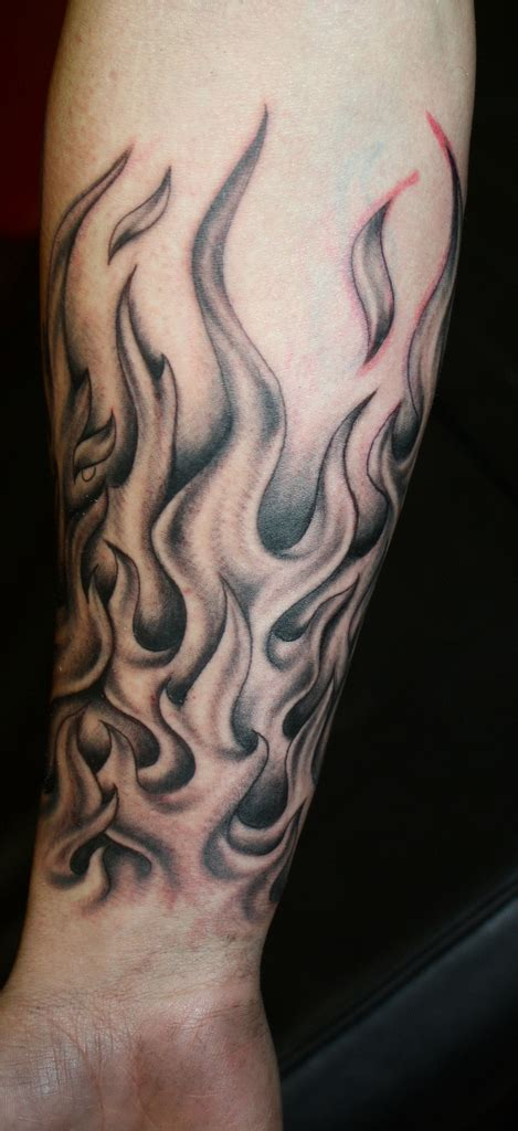 flames tattoo by natissimo on deviantart