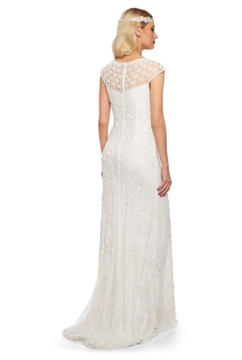 Wedding Hair For Cap Sleeve Dress by Vintage Style Cap Sleeve Wedding Dress Elizabeth Deco Shop