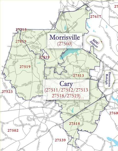 zip code maps raleigh nc cary morrisville community information