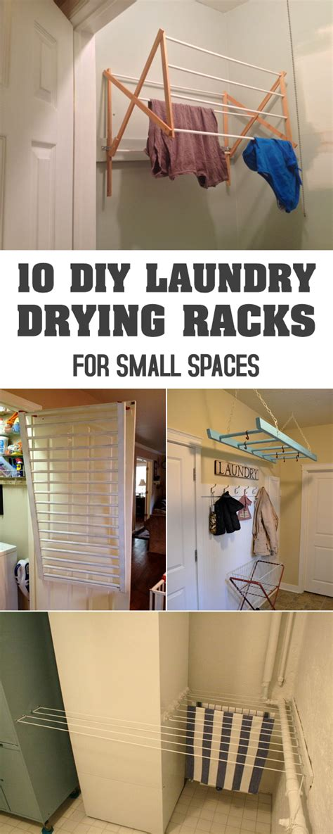 10 diy laundry drying racks for small spaces laundry create and laundry rooms
