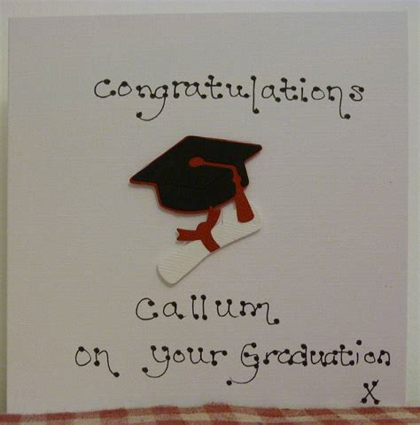 high school graduation name cards personalised graduation card by s