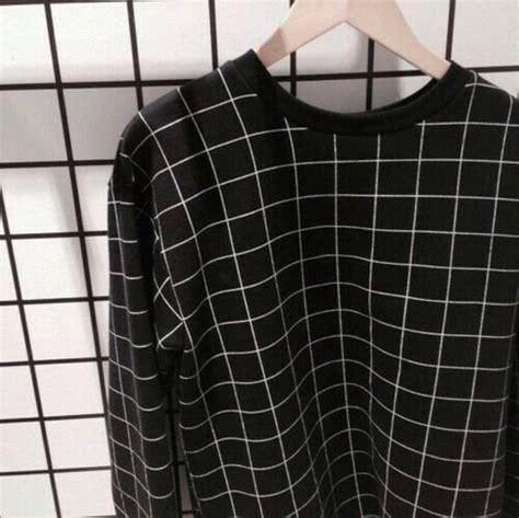 Sweater: black and white, grid, sweatshirt, jacket