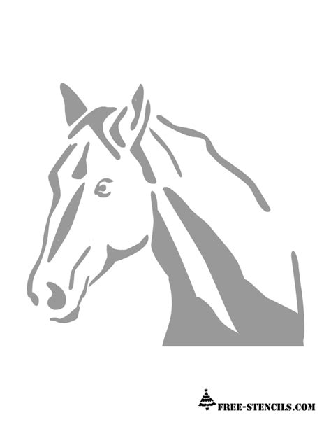 printable stencils of horses free printable horse stencil