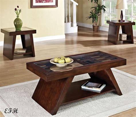 black coffee table and end tables set table designs