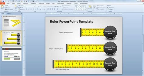 Free Ruler Powerpoint Template Free Templates Powerpoint 2007