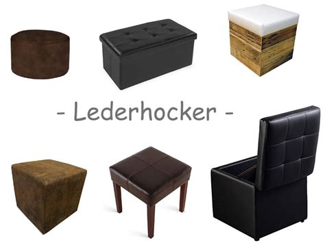 hocker leder hocker leder lederhocker