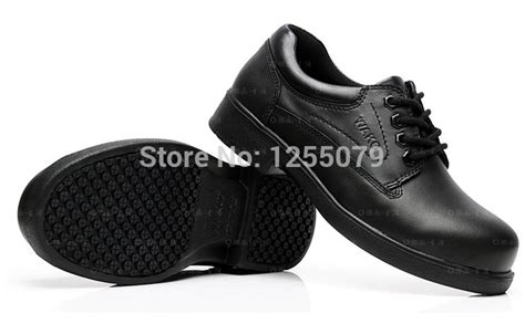 2014 Chef Shoes For Men Genuine Leather Comfortable Black