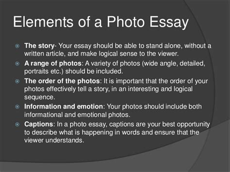 thesis on photography the photographic essay
